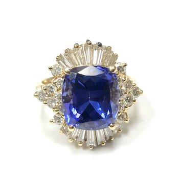 Tanzanite & Diamond Ballerina Ring