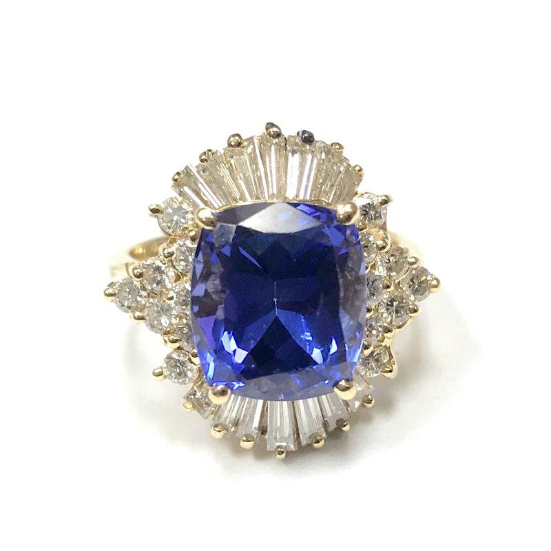 Antique, Estate & Consignment Tanzanite & Diamond Ballerina Ring
