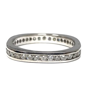 Squared Off Diamond Channel Set Band