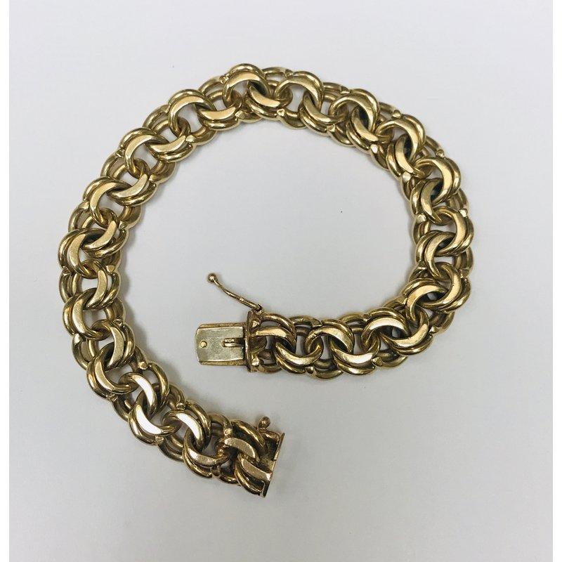 Antique, Estate & Consignment Double Link Gold Bracelet