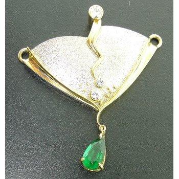 Textured Emerald Pendant