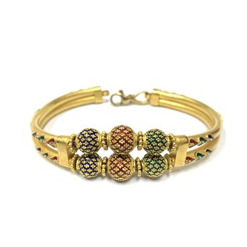 22k Enamel Bangle Bracelet