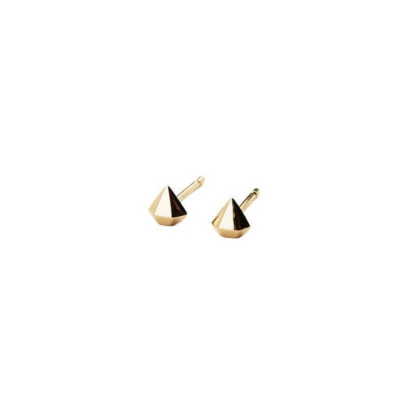 Jennie Kwon Half Diamond Gold Stud Earrings
