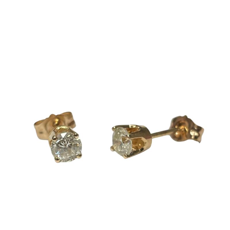 Antique, Estate & Consignment 0.40 Carat Diamond Studs