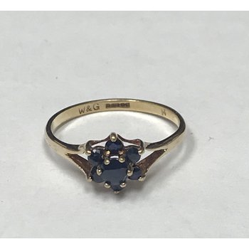 Cluster Sapphire Ring