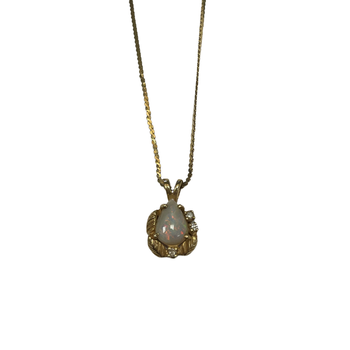 Gold & Opal Necklace