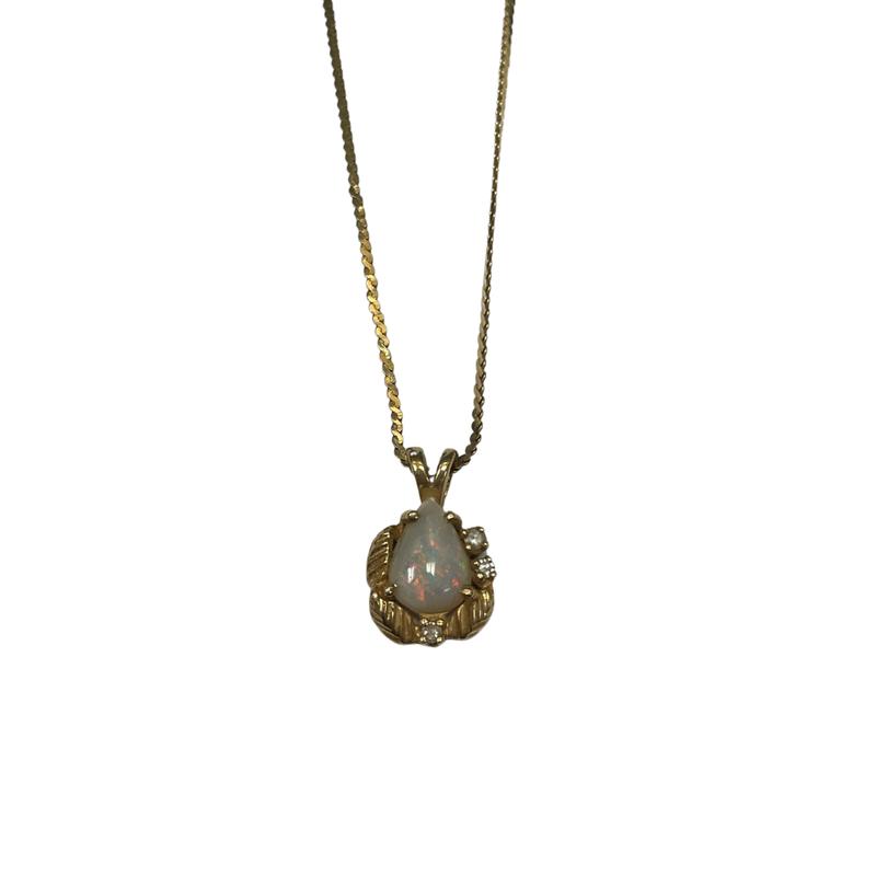Antique, Estate & Consignment Gold & Opal Necklace