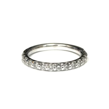 Shared Prong Diamond Band 1/2 Way Around