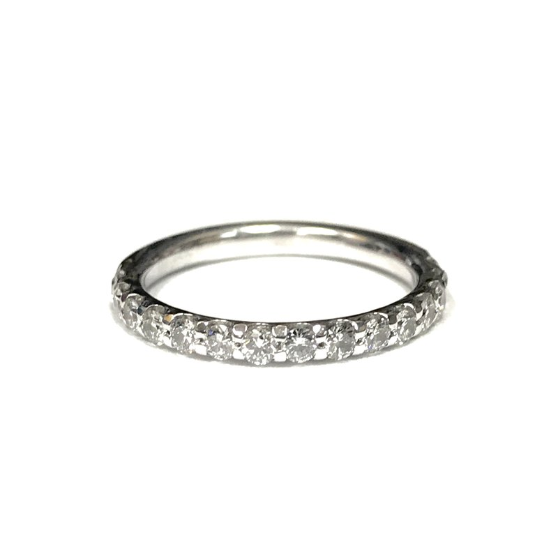Antique, Estate & Consignment Shared Prong Diamond Band 1/2 Way Around