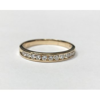Gold Diamond Channel Set Band