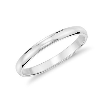 14k White Gold 2mm Band