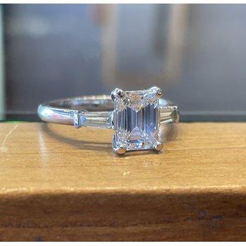 1.52 Carat Emerald Cut Diamond Engagement Ring
