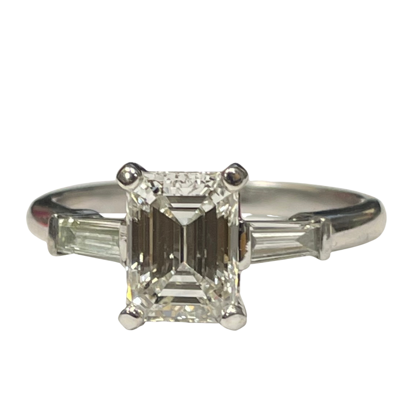 Hurdle's Jewelry Collection 1.52 Carat Emerald Cut Diamond Engagement Ring