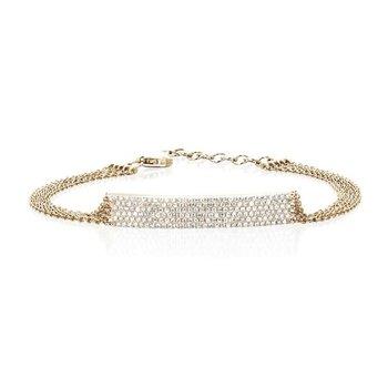 Jumbo Bar Multi Chain Diamond Bracelet