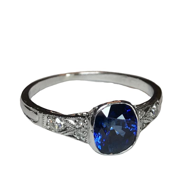 Antique, Estate & Consignment Sapphire & Diamond Ring