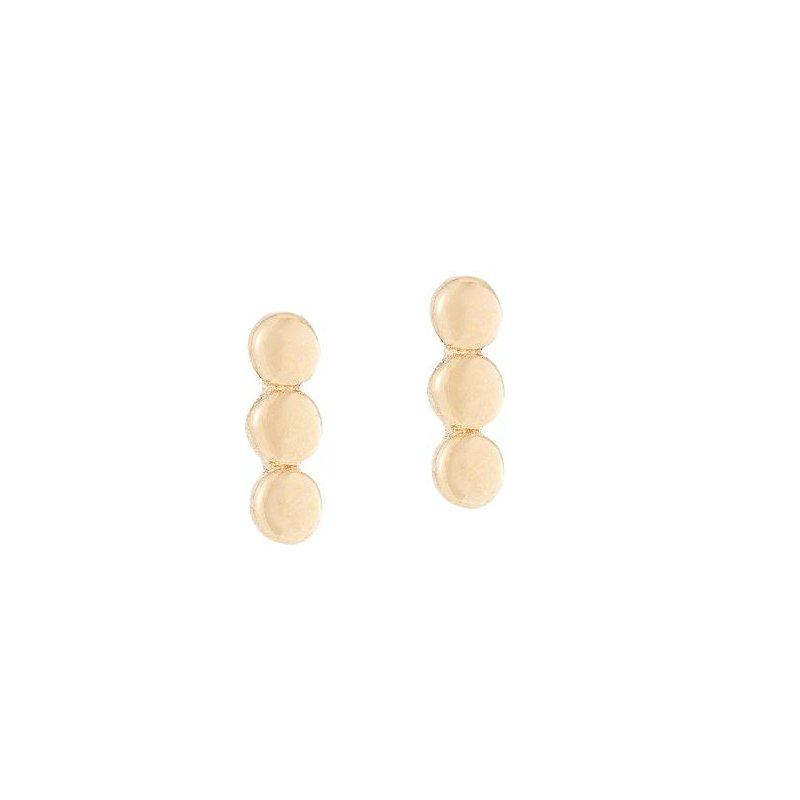 Jennie Kwon 3 Dot Gold Stud Earrings
