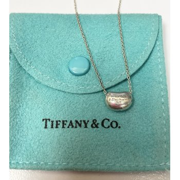Tiffany & Co. Stamped Bean Necklace