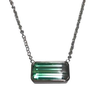 Bi-Color Tourmaline Necklace