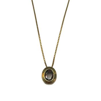 Oval Garnet Necklace