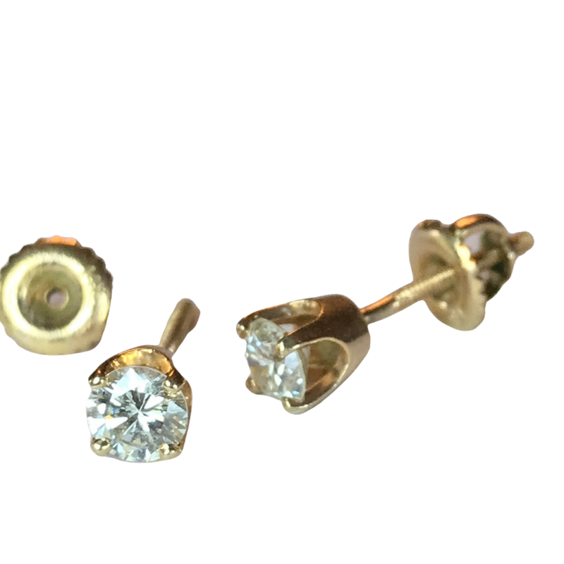 Antique, Estate & Consignment 0.50 Carat Diamond Stud Earrings