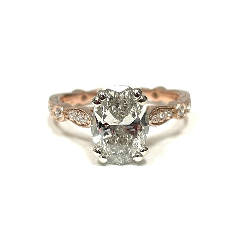 Antique, Estate & Consignment 14k Rose Gold Oval Diamond Engagement Ring