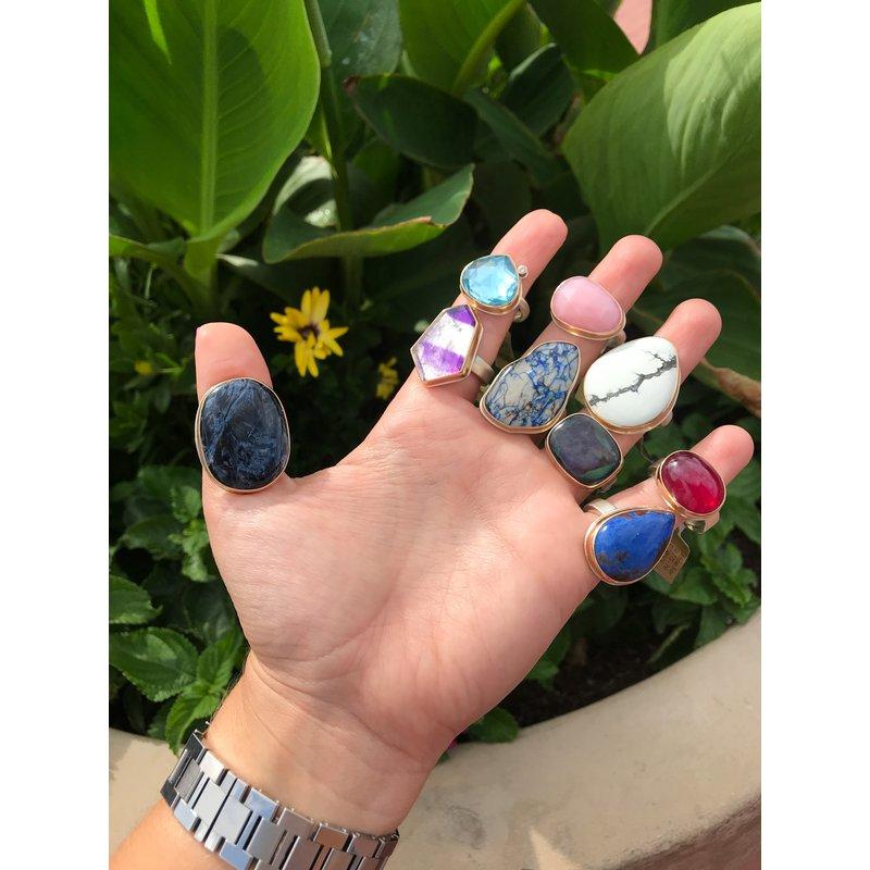 Jamie Joseph Sky Blue Topaz & Diamond Ring
