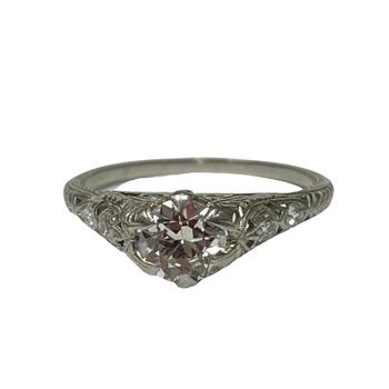 Platinum Filigree Ring