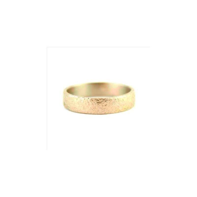 Yasuko Azuma Jewelry 18k Yellow 4mm Textured Band