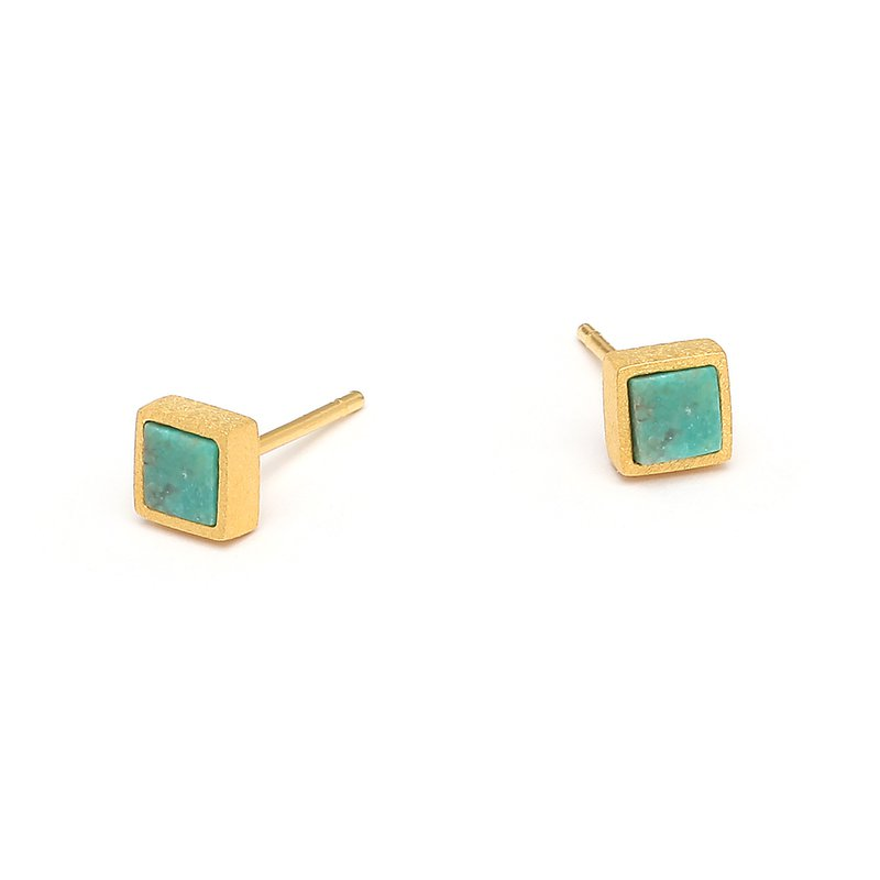 Bernd Wolf Planis Turquoise Square Studs