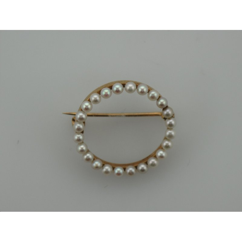 Antique, Estate & Consignment Circle Pearl Pin