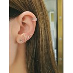 EF Collection Diamond Mini Arrow Stud Earring