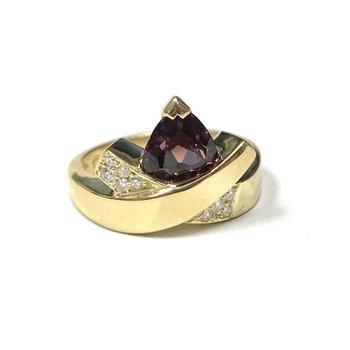 John Atencio Rhodolite Garnet & Diamond Ring