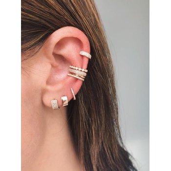 Gold Jumbo Huggie Earring