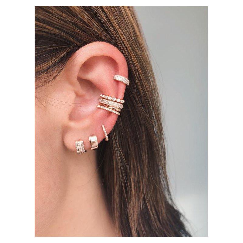 EF Collection Gold Jumbo Huggie Earring