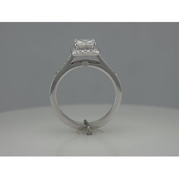 Halo Princess Cut Engagement Ring