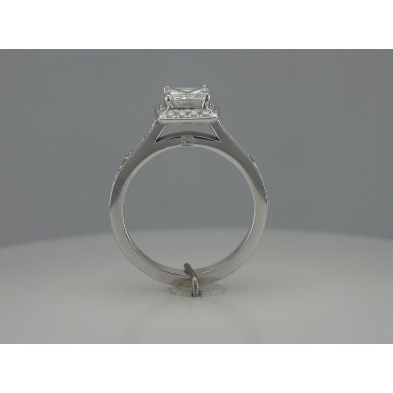 Hurdle's Custom Designs Halo Princess Cut Engagement Ring