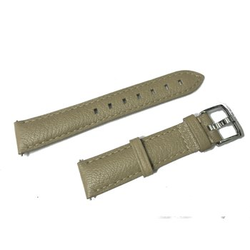 Gray Leather Formula One Strap