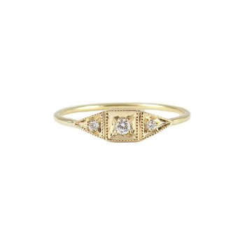 Diamond Mini Deco Point Ring