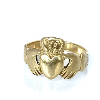 14k Claddaugh Ring