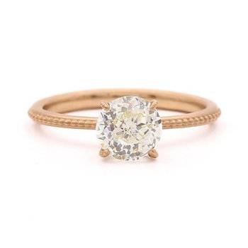 Clover Rose Gold Diamond Ring