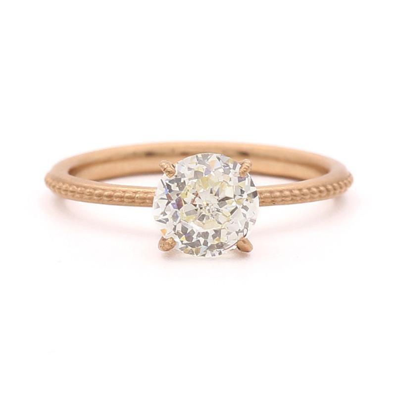 Jennifer Dawes Design Clover Rose Gold Diamond Ring