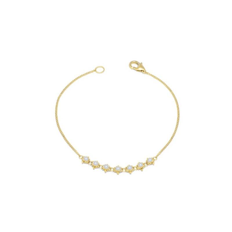 Amali Pearl Textile Bracelet