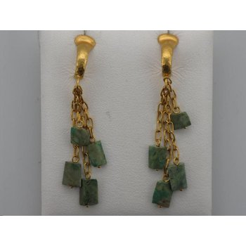 24k Turquoise Dangle Earrings