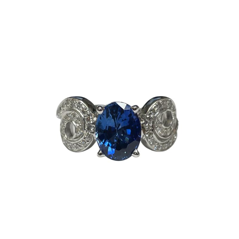 Antique, Estate & Consignment Sapphire & Diamond Twist Ring