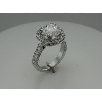 Hand Fabricated Platinum Diamond Ring
