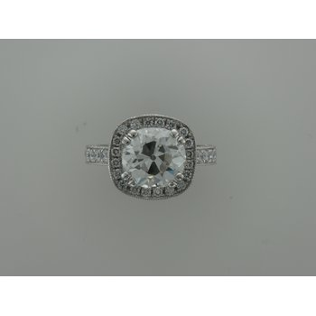 Hand Fabricated Platinum Diamond Ring