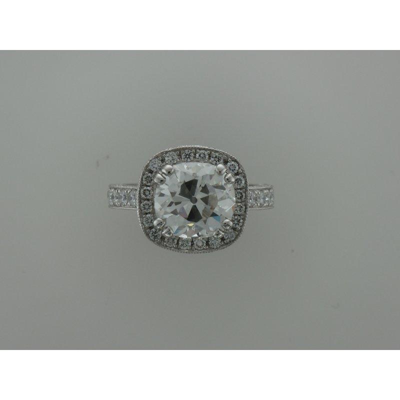 Hurdle's Custom Designs Hand Fabricated Platinum Diamond Ring