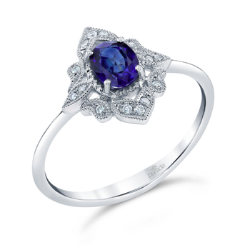 Vintage Inspired Sapphire Ring R4354