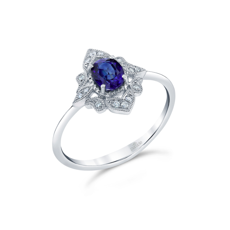 Parade Design Vintage Inspired Sapphire Ring R4354