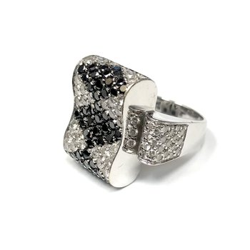 Black Diamond & Diamond Bow Ring